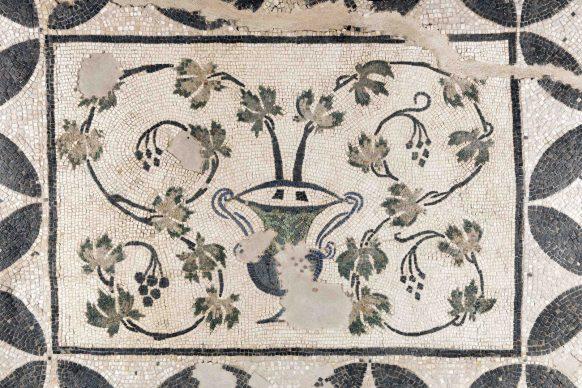 La scatola archeologica della Domus Aventino, allestimento multimediale, dettaglio dei mosaici. Crediti Soprintendenza Speciale di Roma