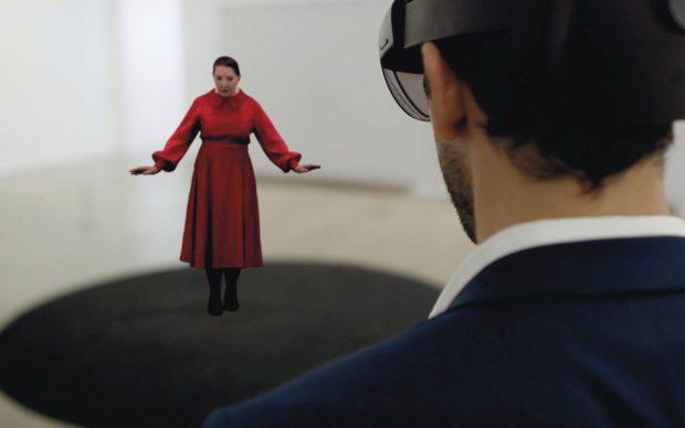 Marina Abramović, The Life. Mixed reality installation with artist's box