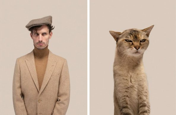 Matthew & Hubert (Abyssinian). Copyright and courtesy of Gerrard Gethings
