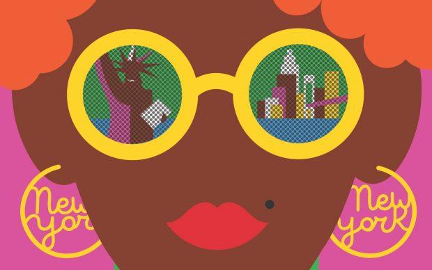 "Olimpia Zagnoli ""New York View"" MTA Arts & Design, 2014"