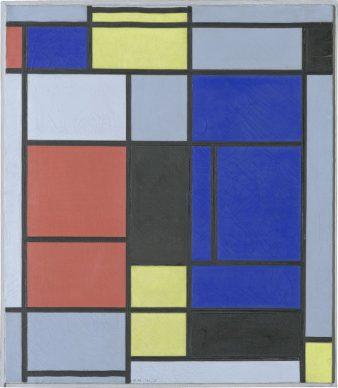 Piet Mondrian, Tableau No. I, 1921–1925 Oil on canvas, 75,5 x 65,5 cm Fondation Beyeler, Riehen / Basel, Beyeler Collection © Mondrian/Holtzman Trust c/o HCR International Warrenton, VA USA Photo Robert Bayer, Basel