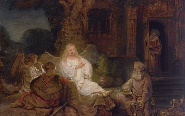 Rembrandt, Abraham and the Angels. Courtesy Sotheby's