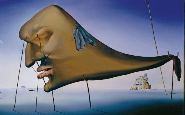 Salvador Dalí, Il sonno, 1937. Olio su tela. Collezione privata. Christie's Images, Londra/Scala, Firenze. © Salvador Dalí, Fundació Gala-Salvador Dalí, DACS 2019.