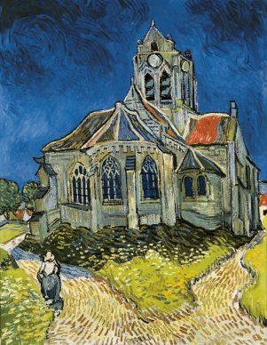 Vincent van Gogh, La Chiesa di Auvers-sur-Oise (Auvers, 4 giugno 1890). Parigi, Musée d'Orsay (©photo Gloria Fossi 2019)