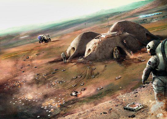Foster + Partners, Mars Habitat, Marte, 2015 - in corso © Foster + Partners
