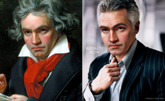 Beethoven. Courtesy Becca Saladin. Instagram (@royalty_now_) Tik Tok (@Royaltynow)