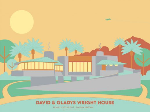 Aaron Stouffer, David & Gladys Wright House. Courtesy of the Frank Lloyd Wright Foundation and Spoke Art Gallery