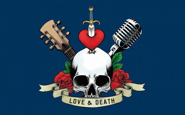 Ezio Guaitamacchi - Amore, morte e rock'n'roll (Hoepli, 2020), dettaglio della copertina