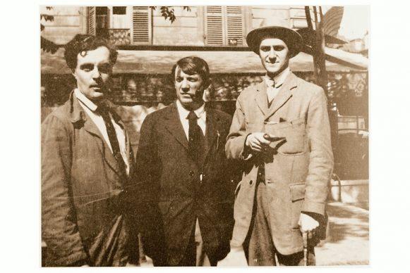 Parigi, 1916. Modigliani, Picasso e André Salmon a la Rotonde. Crediti Istituto Amedeo Modigliani