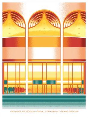 Jon Arvizu, Gammage Auditorium. Courtesy of the Frank Lloyd Wright Foundation and Spoke Art Gallery