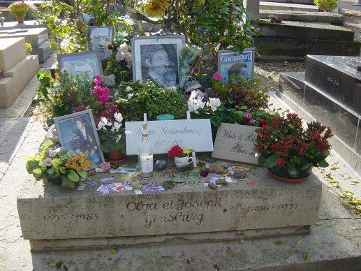 "La tomba di Serge Gainsbourg visitata da Giulia Depentor per il volume ""Qui giace un poeta"""