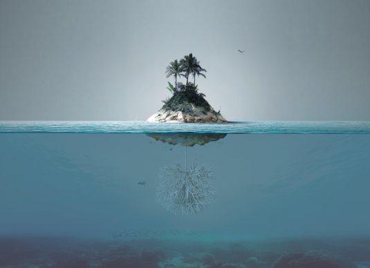 Render di come apparirebbe l'isola una volta realizzata. Copyright Angelo Renna