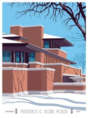 Steve Thomas, Robie House. Courtesy of the Frank Lloyd Wright Foundation and Spoke Art Gallery