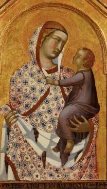 Un'immagine del polittico di Pietro Lorenzetti dopo il restauro