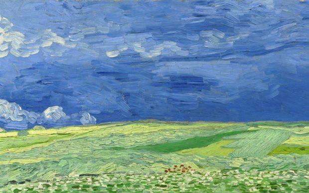 Vincent van Gogh, Wheatfield under Thunderclouds, 1890, oil on canvas, 50.4 cm x 101.3 cm, Van Gogh Museum, Amsterdam (Vincent van Gogh Foundation)