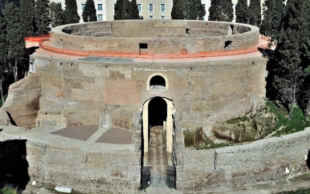 Veduta dall'alto del Mausoleo di Augusto