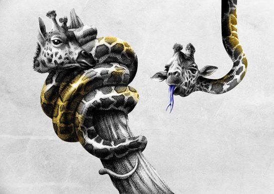 """Una tavola della serie """"L'Arca di Cioè"""". Courtesy Federico TomoZ Bandini"""