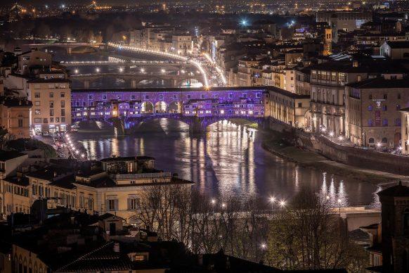 Firenze Light Festival, Ponte Vecchio © Nicola Neri