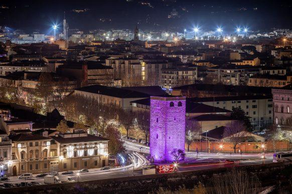 Firenze Light Festival, Torre della Zecca © Nicola Neri