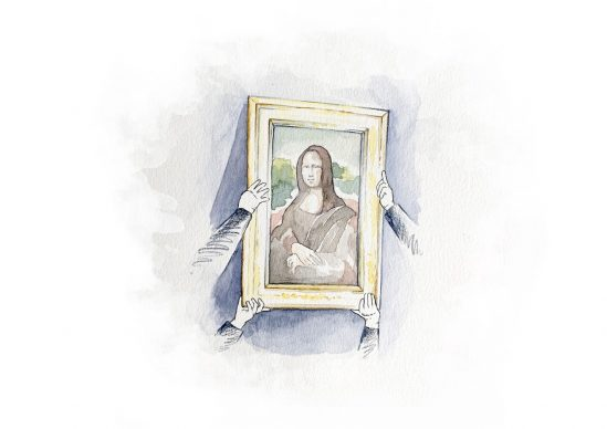 Louvre experience: Mona Lisa Mania ‒ attend the annual. Examination of the Mona Lisa outside her display case. Estimate: € 10,000-30,000 © Héloïse Becker