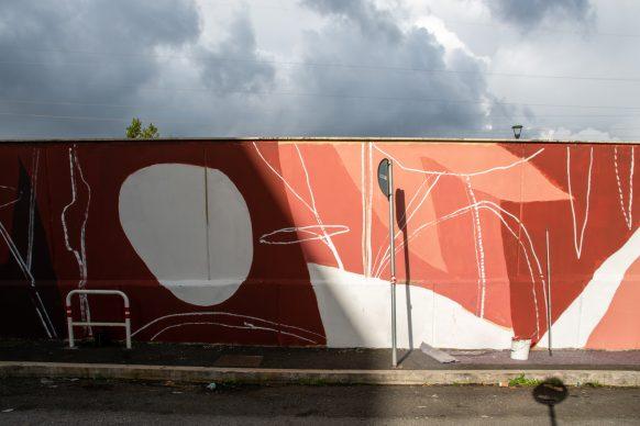 Roma, l'opera dello street artist Tellas in via Basiliano. Photo credits © Luisa Fabriziani