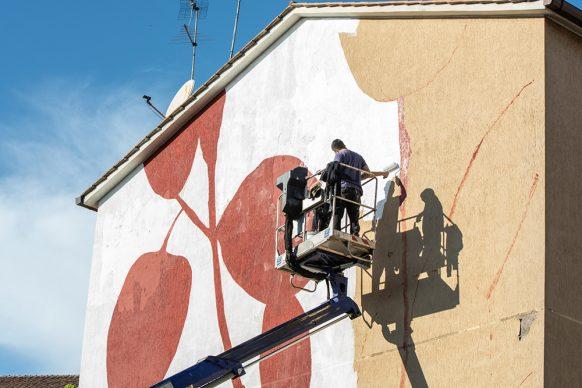 Roma, l'opera dello street artist Tellas nel Largo delle Terme Gordiane. Photo credits © Luisa Fabriziani
