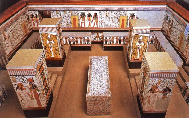 Modello della tomba di Nefertari, credit Museo Egizio, Torino