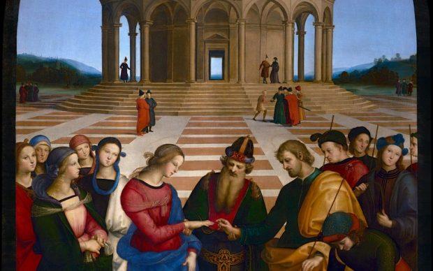 Raffaello Sanzio, Sposalizio della Vergine. Immagine Haltadefinizione