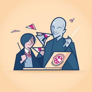"""Una tavola di Ale Giorgini per la serie """"Sunday Pizza"""". Courtesy l'artista"""
