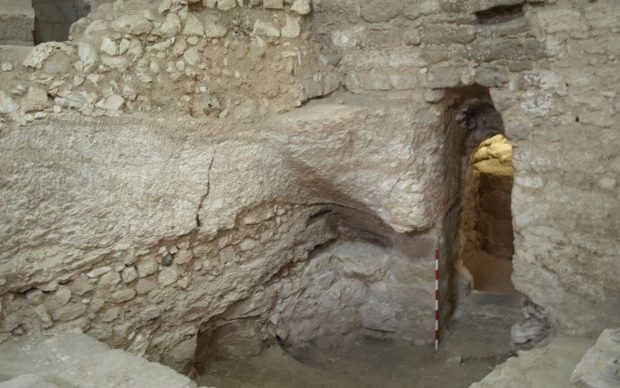 The first-century house at the Sisters of Nazareth site. Copyright K. R. Dark