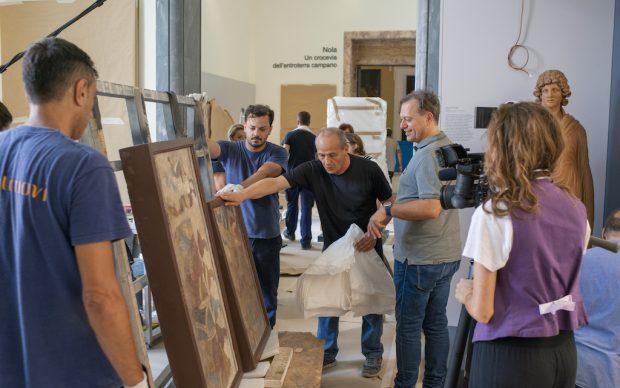 Le riprese del film Agalma all'interno del Museo Archeologico Nazionale di Napoli. Courtesy MANN