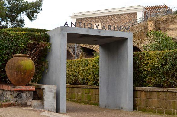 Antiquarium di Pompei, Parco Archeologico di Pompei. Vista del portale esterno. Photo © Mina Grasso