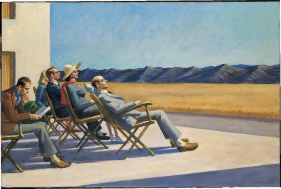 Edward Hopper. People in the Sun, 40 × 60 in., (102,6 × 153,4 cm). Smithsonian American Art Museum, Washington, D.C.; Donazione di S.C. Johnson & Son, Inc.