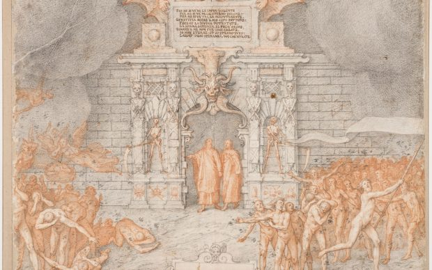 Federico Zuccari, La porta dell'Inferno, courtesy Le Gallerie degli Uffizi