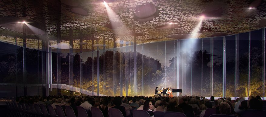 House of Hungarian Music, render. Credit (c) Sou Fujimoto Architects
