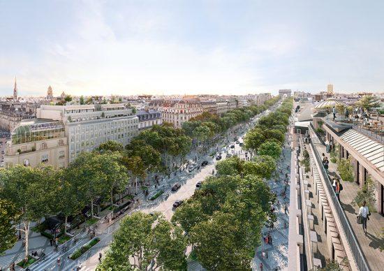 Haut des Champs Élysées 52 rooftop ©PCA-STREAM