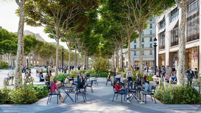 Haut des Champs Élysées salon végétal ©PCA-STREAM