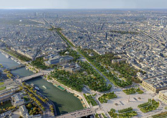 Jardin des Champs Élysées aérienne ©PCA-STREAM