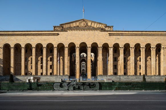 Parliament of Georgia by V. Kokorin, G. Lezhava, V. Nasaridze, 1938, 1953. Stefano Perego, © Blue Crow Media