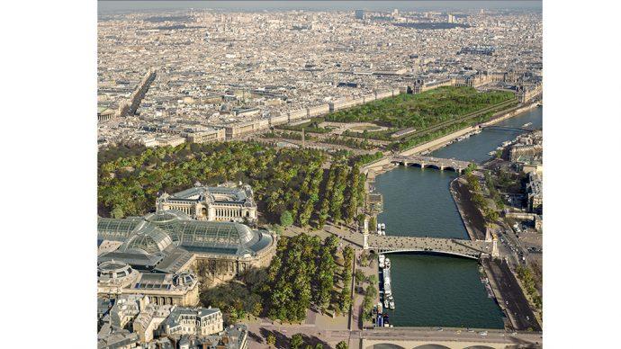 Port des Champs Élysées aérienne ©PCA-STREAM