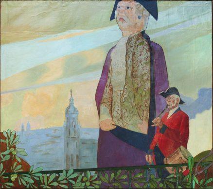 Manuel Losada, Don Terencio y Chango, El txistulari, 1894. Óleo sobre lienzo, 195 x 220 cm. Sociedad Filarmónica de Bilbao © Manuel Losada