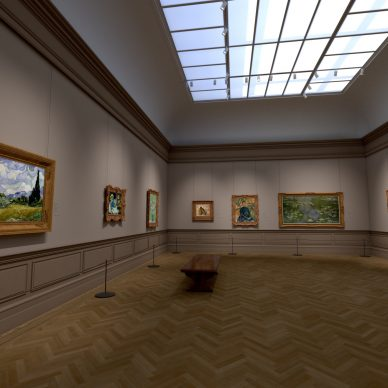 """Virtual installation view of """"The Met Unframed"""" 2021. Home Gallery. Image courtesy The Metropolitan Museum of Art and Verizon"""