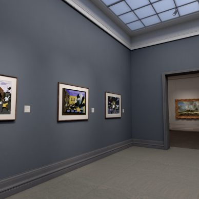 """Virtual installation view of """"The Met Unframed"""", 2021. Journey Gallery. Image courtesy The Metropolitan Museum of Art and Verizon"""
