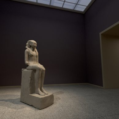 """Virtual installation view of """"The Met Unframed"""", 2021.Power Gallery. Image courtesy The Metropolitan Museum of Art and Verizon"""