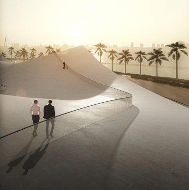 Pavilions by the Seaside, Pavilion Number 6 by Sou Fujimoto. Image by Sou Fujimoto – Courtesy of Sou Fujimoto