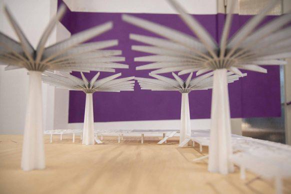 Vista dell'allestimento della mostra Pier Luigi Nervi e Firenze, la Struttura della Bellezza. Photo Massimo Sestrini
