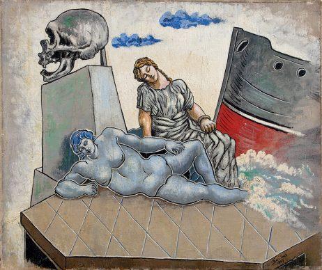 Alberto Savinio, Poema marino, 1927, olio su tela, 50 x 60 cm, collezione della Fondazione Cariverona © Alberto Savinio by SIAE 2021