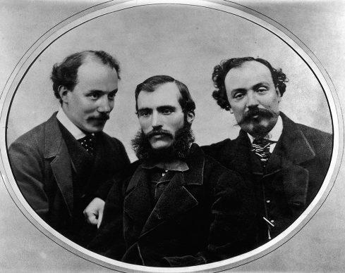 Fratelli Alinari, I tre fratelli Alinari Giuseppe, Leopoldo e Romualdo, 1860. Archivi Alinari Firenze
