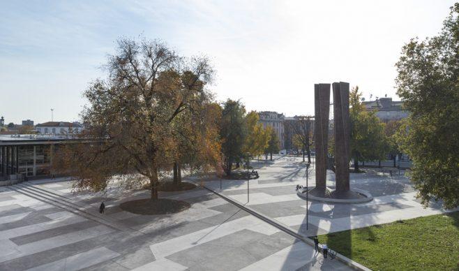 La riqualificazione urbana di Piazza degli Alpini a Bergamo. Photo Tacchinardi