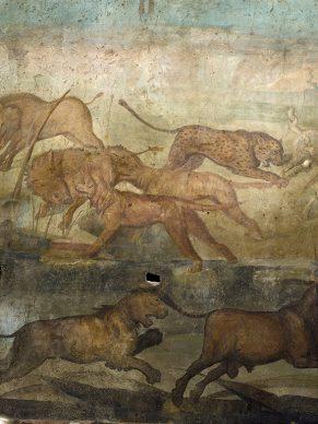 Parco Archeologico di Pompei, Affresco della Caccia nella Casa dei Ceii. Photo ®Luigi Spina. Courtesy Parco Archeologico di Pompei